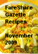 FareShare Gazette Recipes November 2009