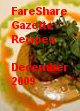 FareShare Gazette Recipes December 2009