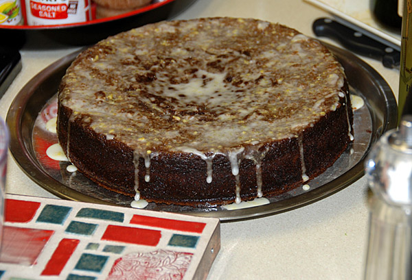 FareShare Photo Recipe: Moist Gingerbread Cake With Lemon Glaze