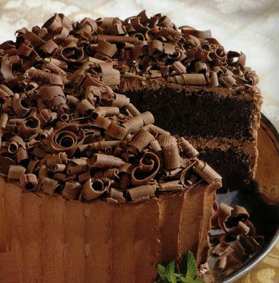 Chocolate Crunch Layer Cake With Milk Chocolate Frosting